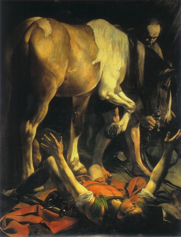 Caravaggio - The Conversion of Saint Paul 3b
