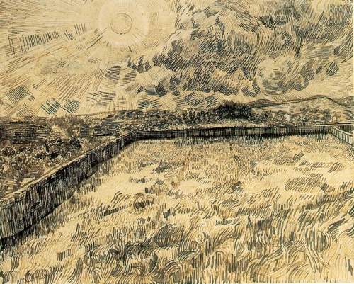 Van Gogh - Wheat Field with Cloud-smaller