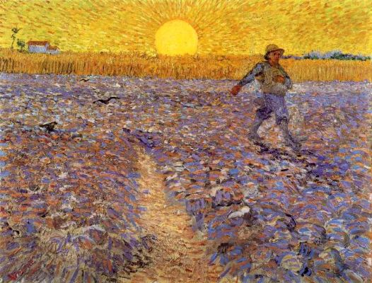 Van Gogh-Sower with Setting Sun