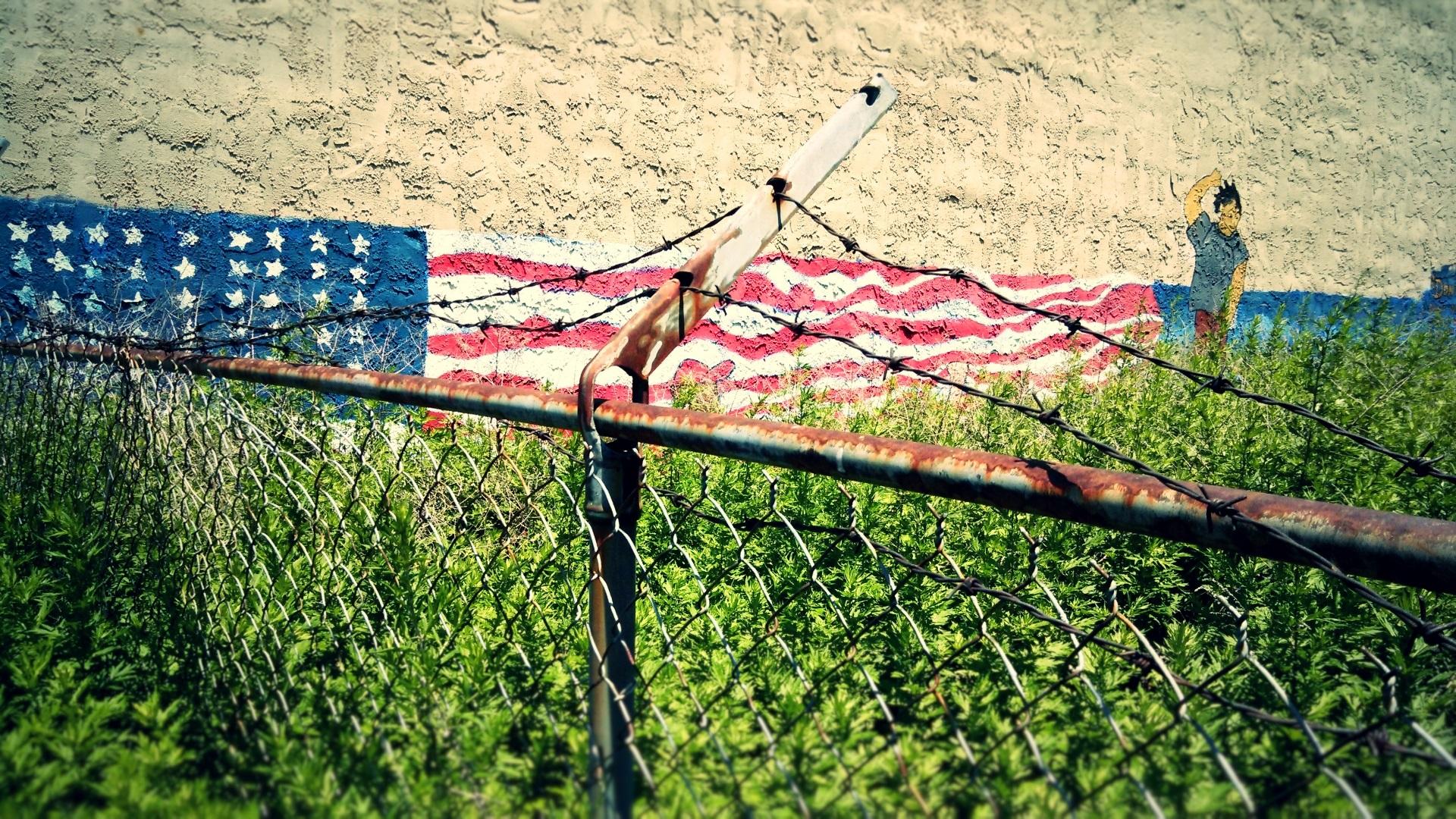 barbed-liberty-flag-wall