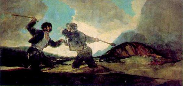 "de Goya-fight with cudgels"""