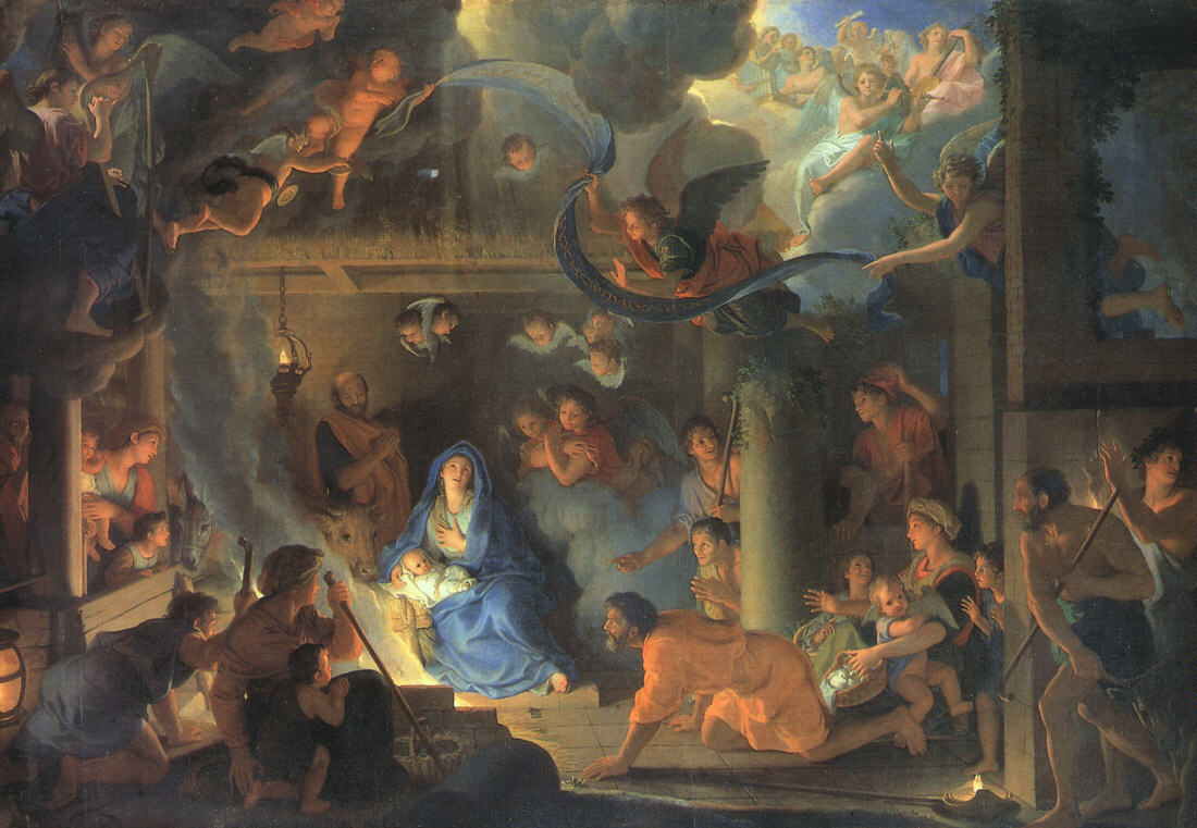 Charles-le-Brun-Adoration-of-Shepherds