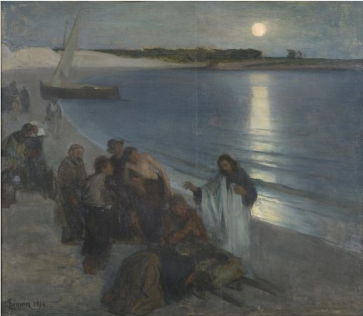 Lucien Simon-Christ Performing Miracles